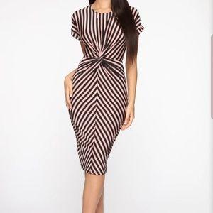 Sexy striped dress